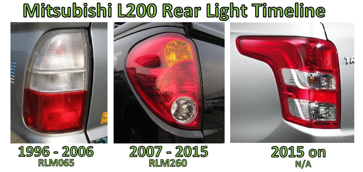 Black Chrome LED Rear Light kit for Mitsubishi L200 Mk5 Warrior tail lamp 05 06+