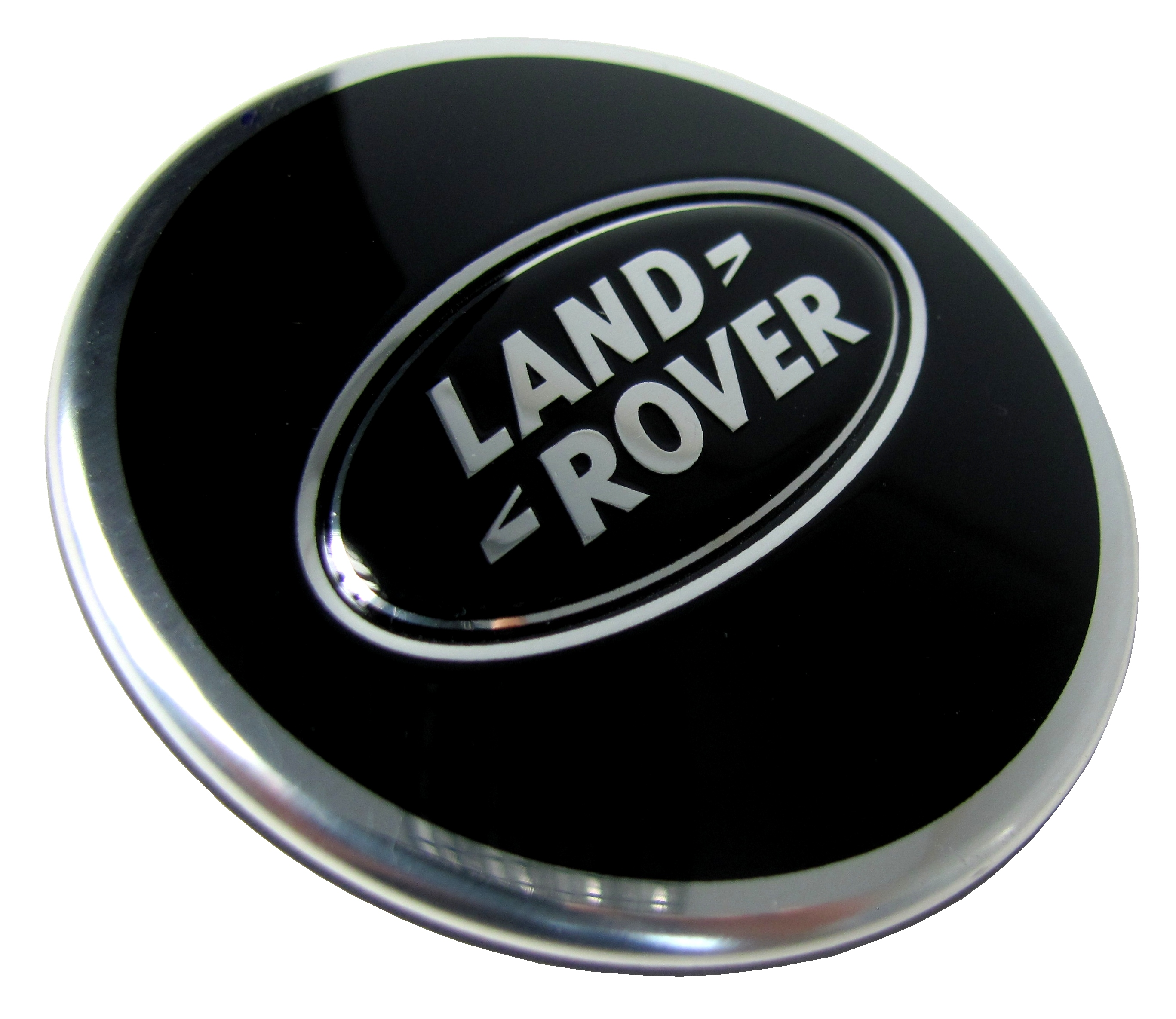 4x Black Alloy Wheel Center Caps For New Land Rover
