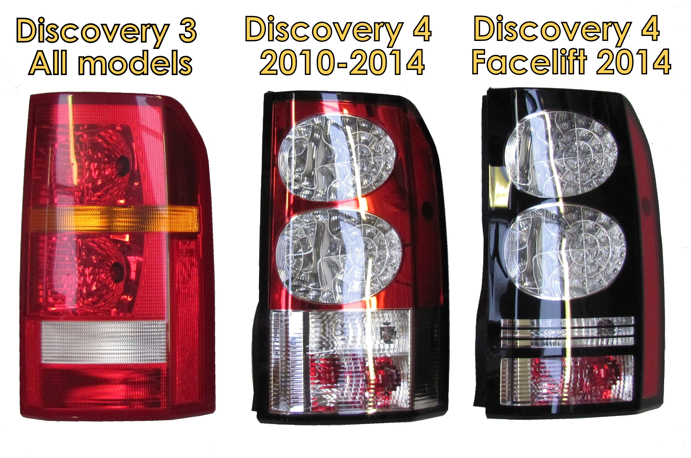 Land Rover Discovery 4 2014 Black Led Rear Light Tail Lamp