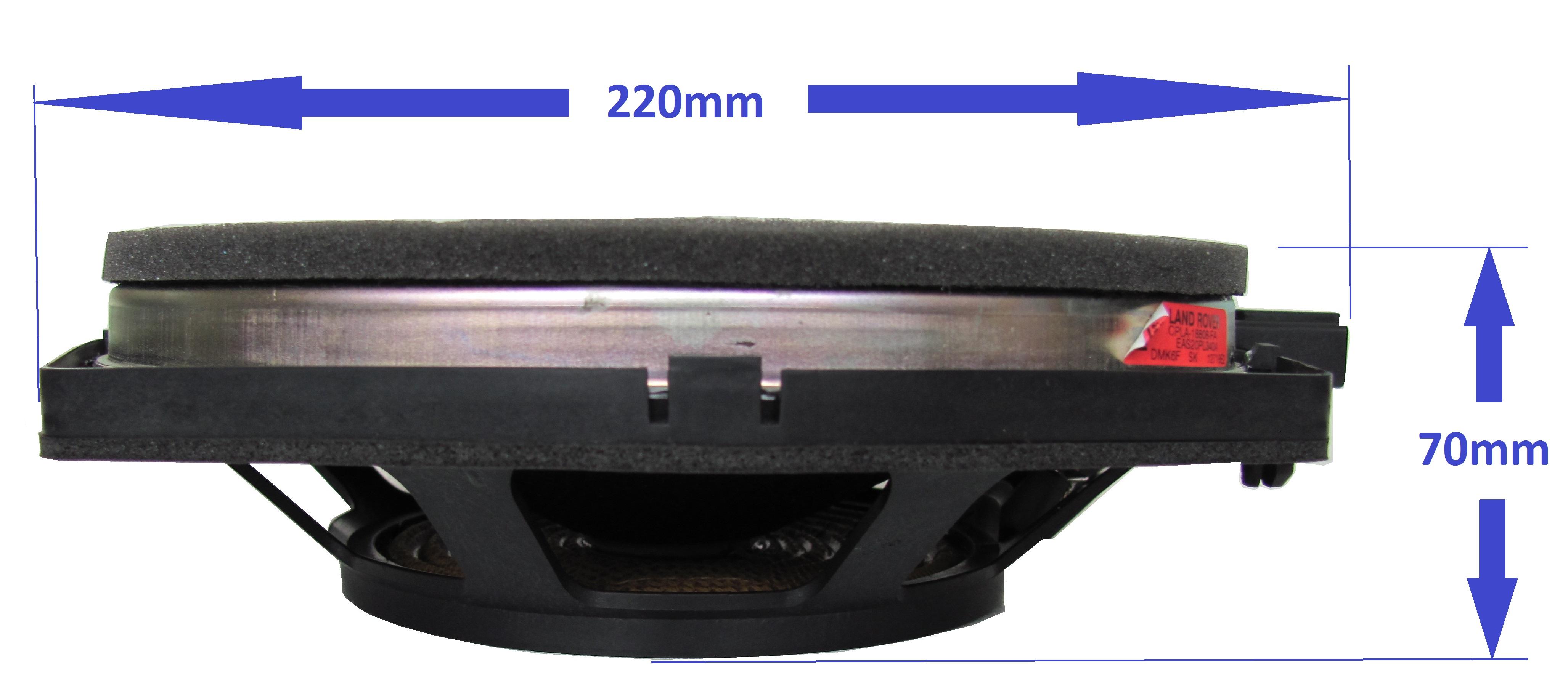 2x Low Profile Car Audio 8 Mid Range Speaker Kevlar Cone Door