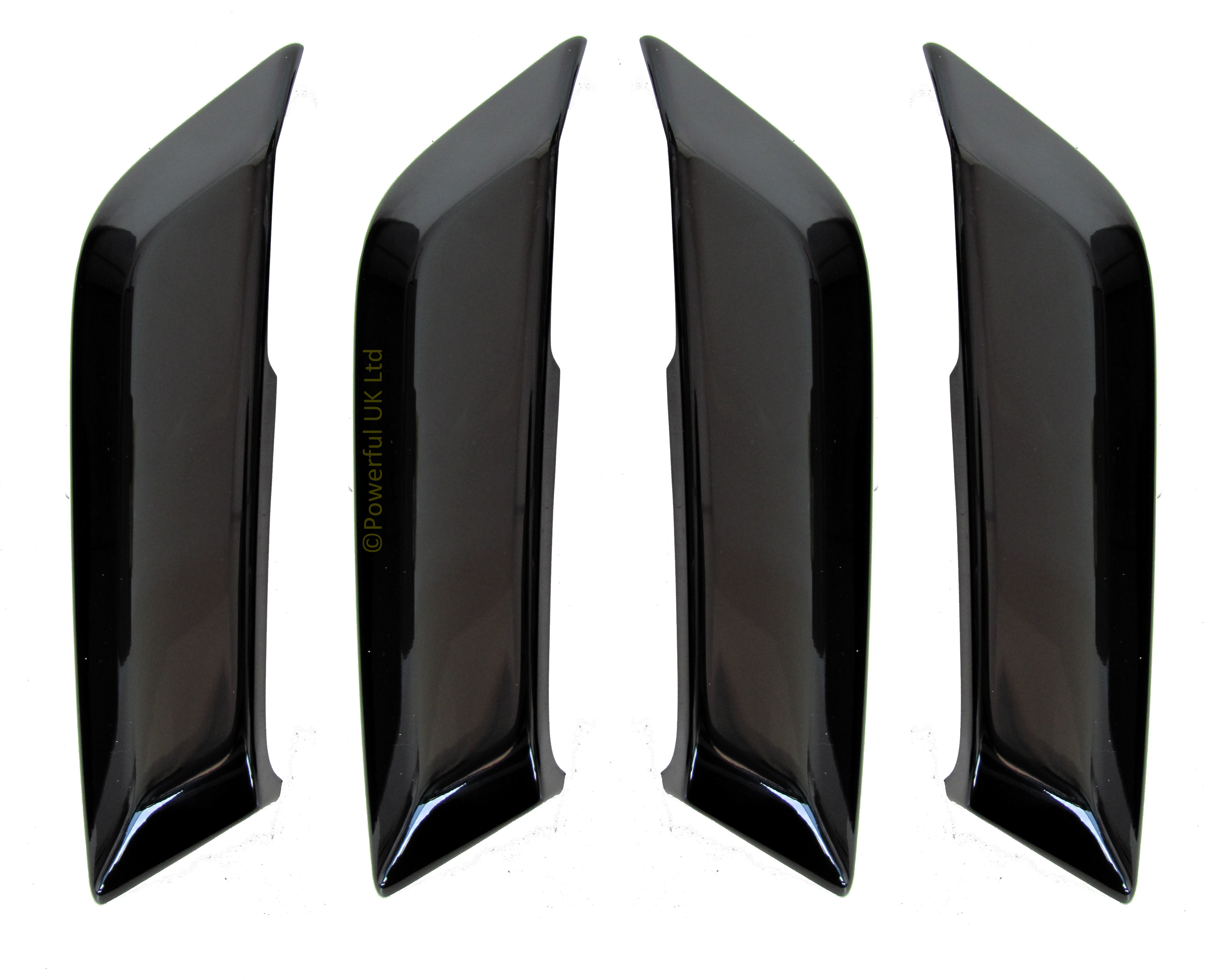 4pc Gloss Black Interior Door Handle Pull Kit For Land Rover