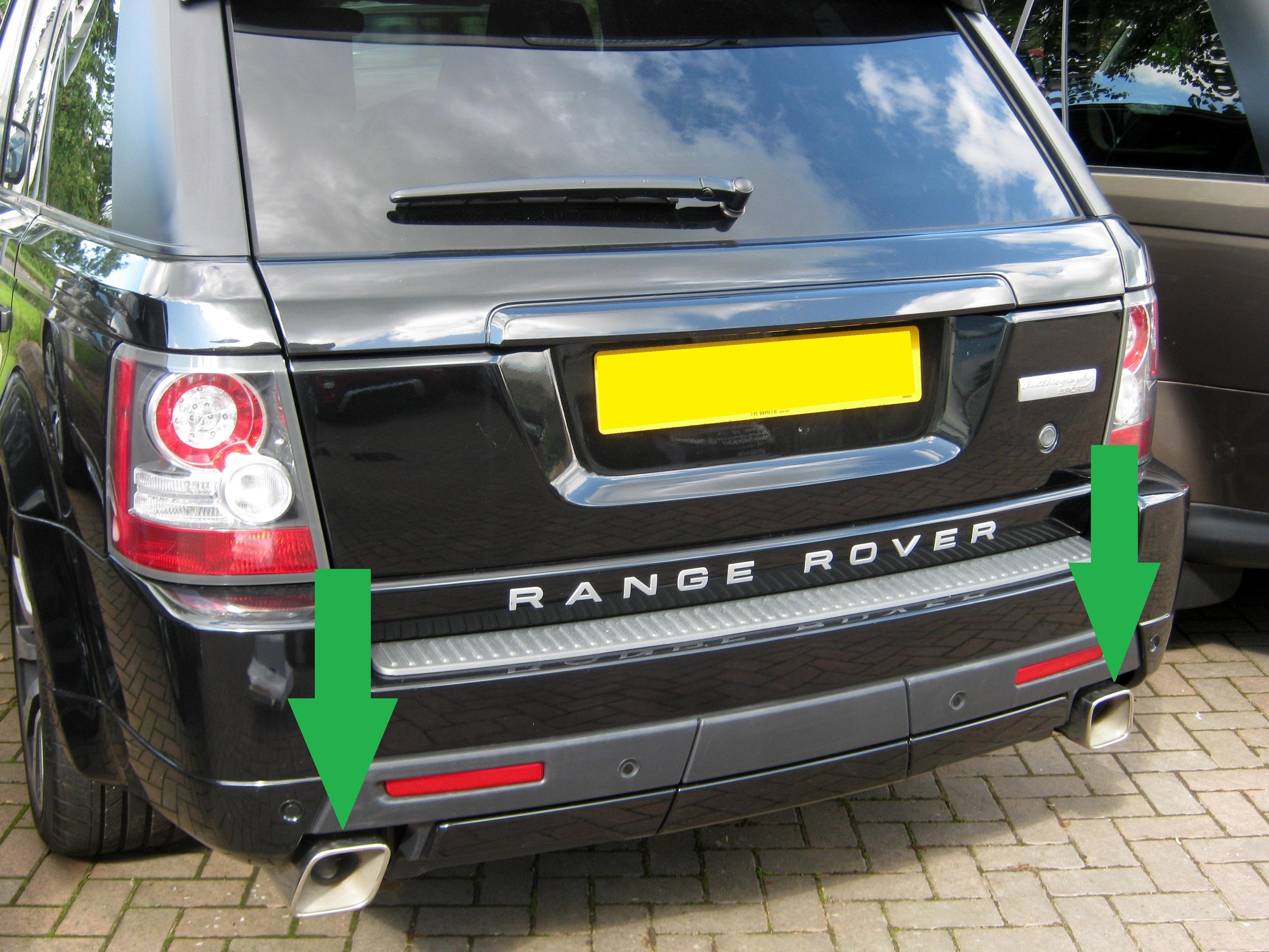 Par De Acero Escapes consejos para Range Rover Sport 2010 autobiografía gasolina