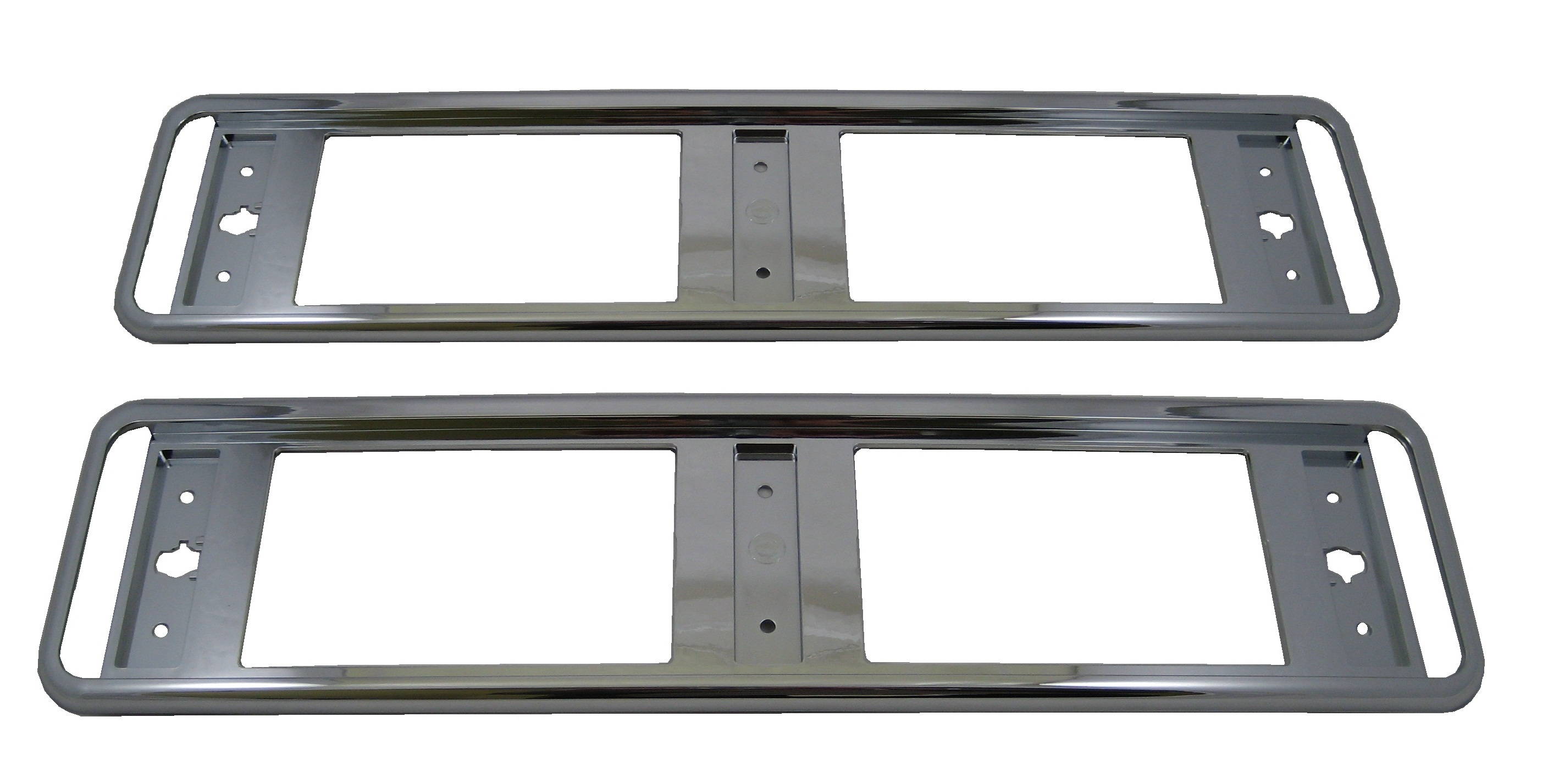 Pair of Chrome number plate surrounds frames for Land Rover ...
