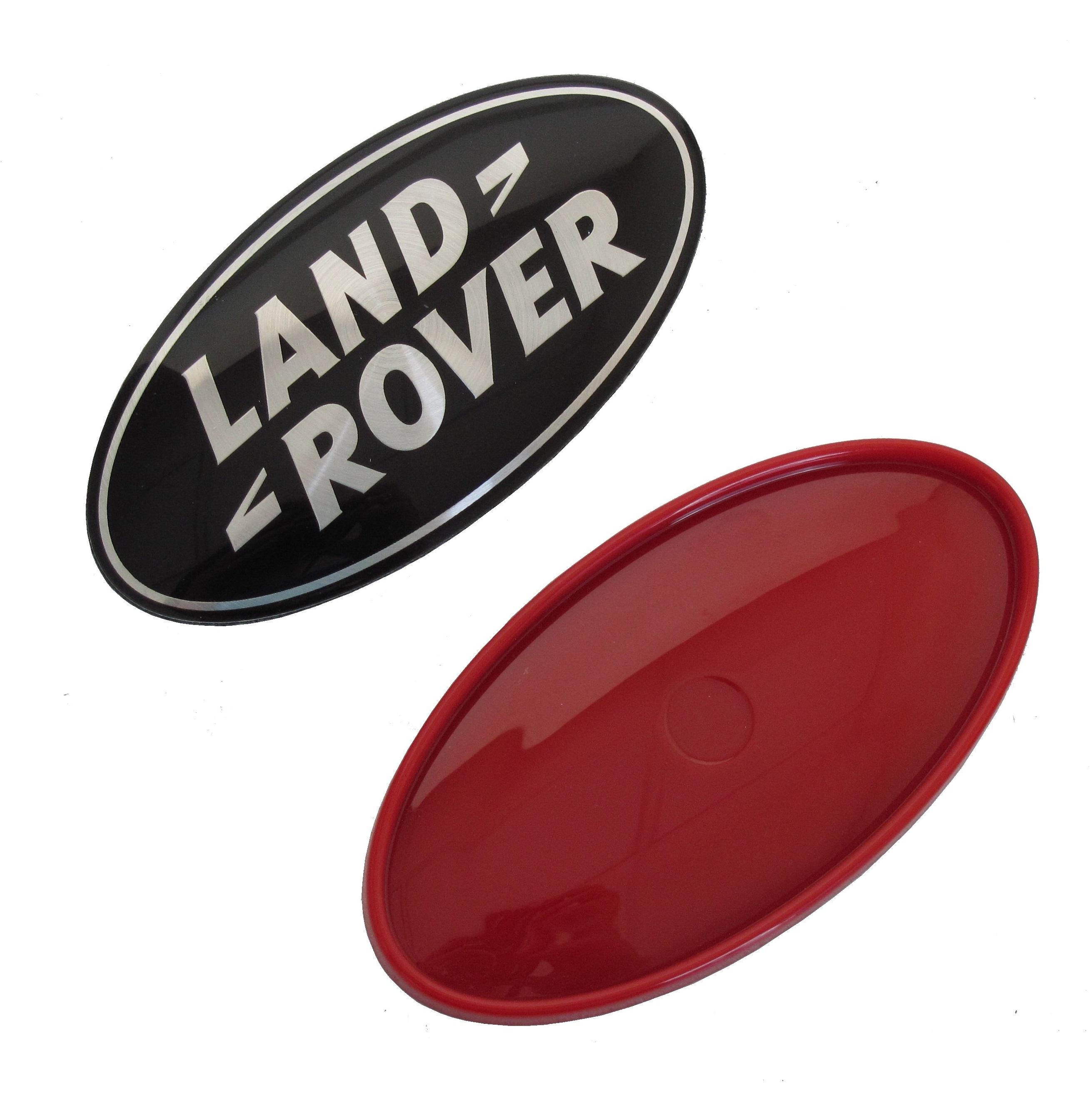 Genuine Land Rover Black Silver Badge