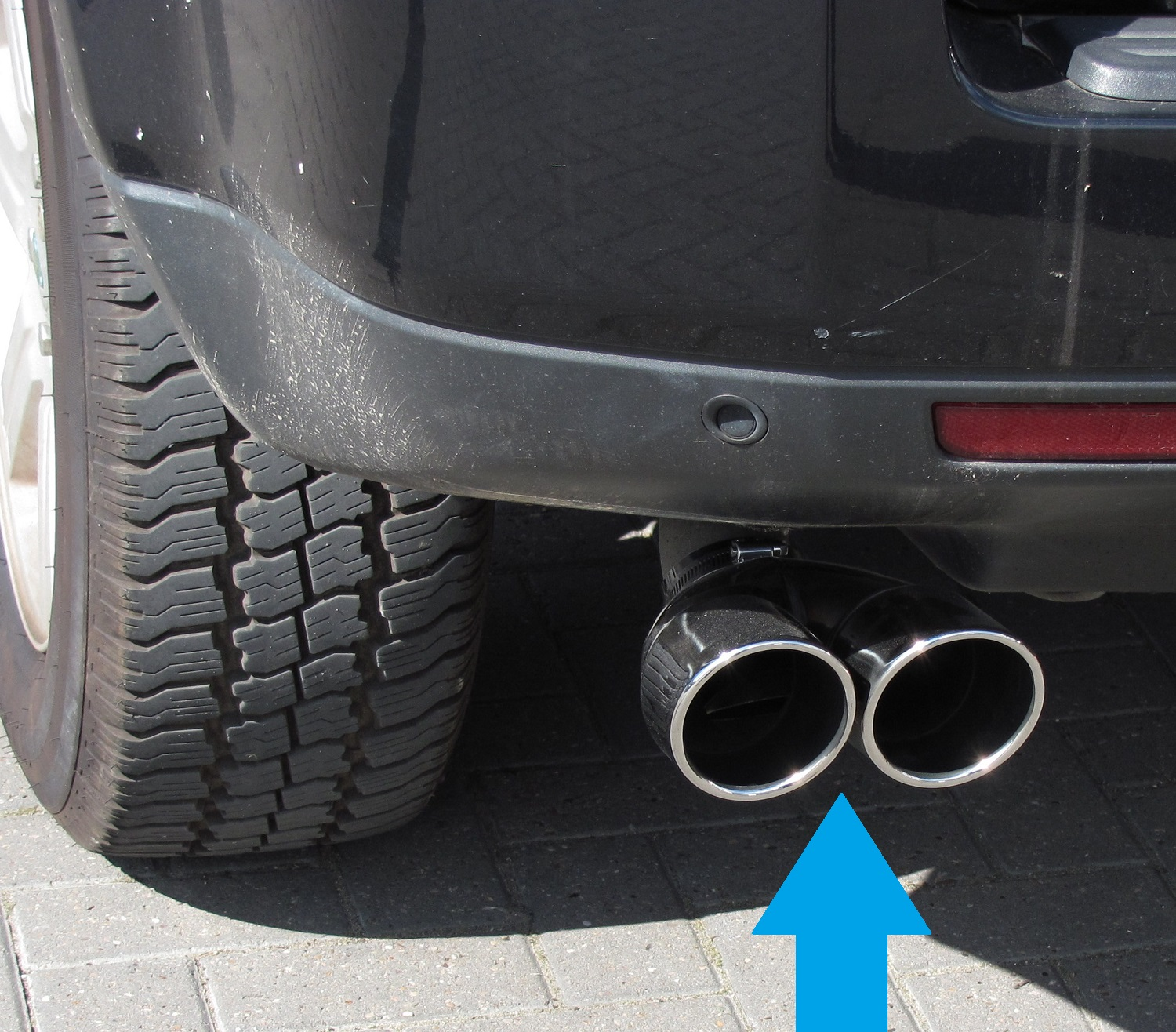 Twin Exhaust Tail Pipe Stainless Land Rover Freelander 2