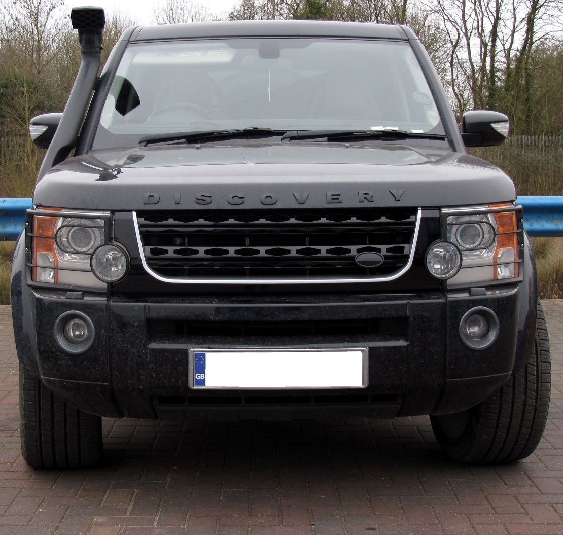 Sold Land Rover Discovery 3 Discov: Black+Silver Disco 4 2014 Facelift Style Front Grille For
