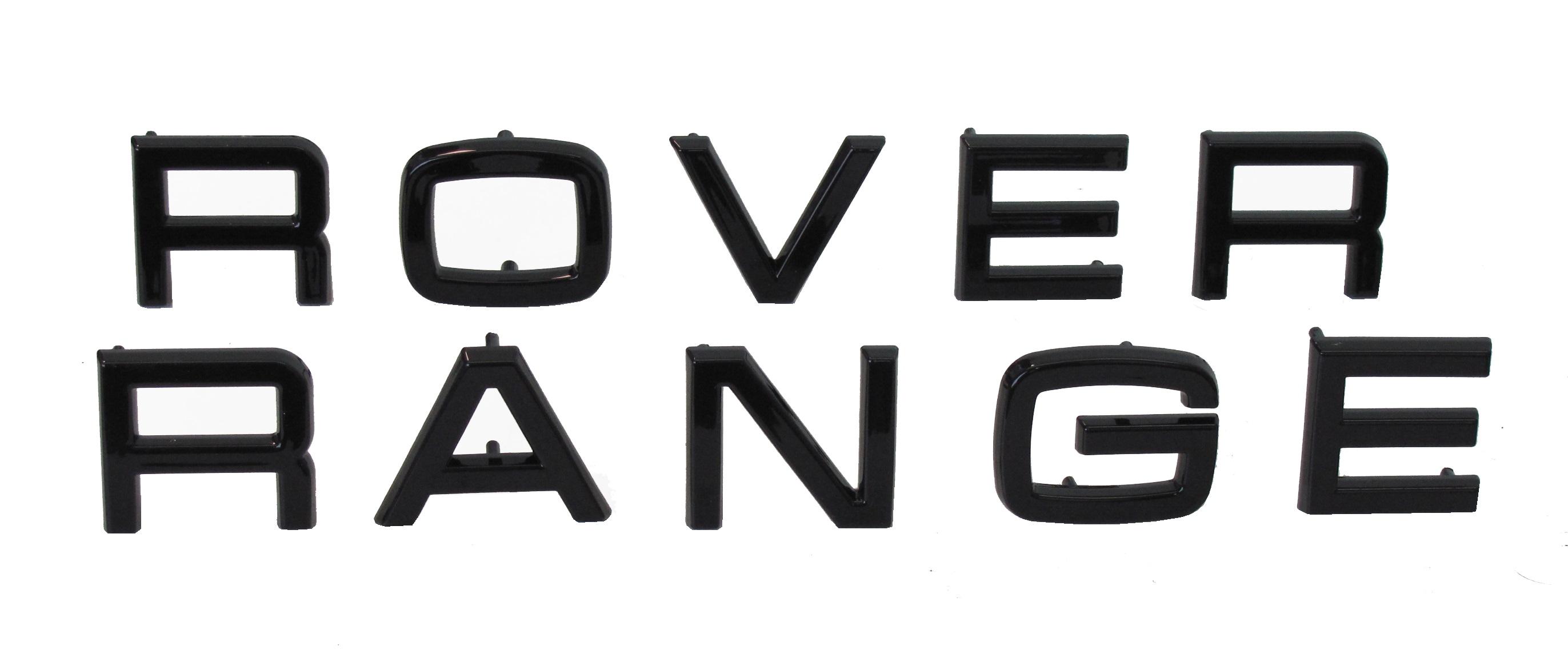 black lettering original pin type range rover classic bonnet font decal badge ebay. Black Bedroom Furniture Sets. Home Design Ideas