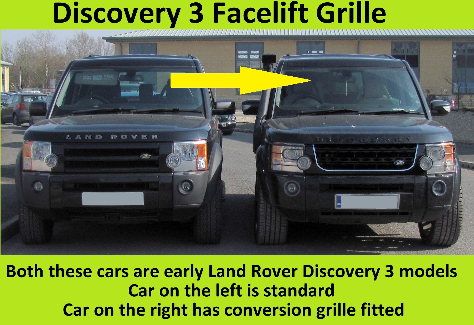 Gloss Black Disco 4 2014 facelift style front grille for Land Rover
