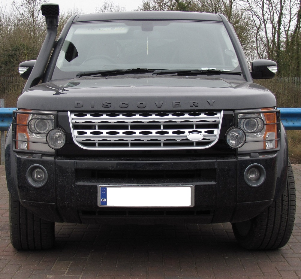 Sold Land Rover Discovery 3 Discov: Black+Silver+Silver Disco 4 Facelift Style Front Grille