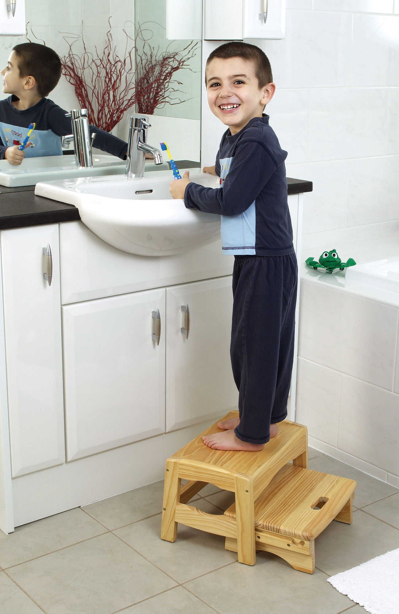 Safety 1st Wooden Two Step Stool Baby Child Bathroom Potty