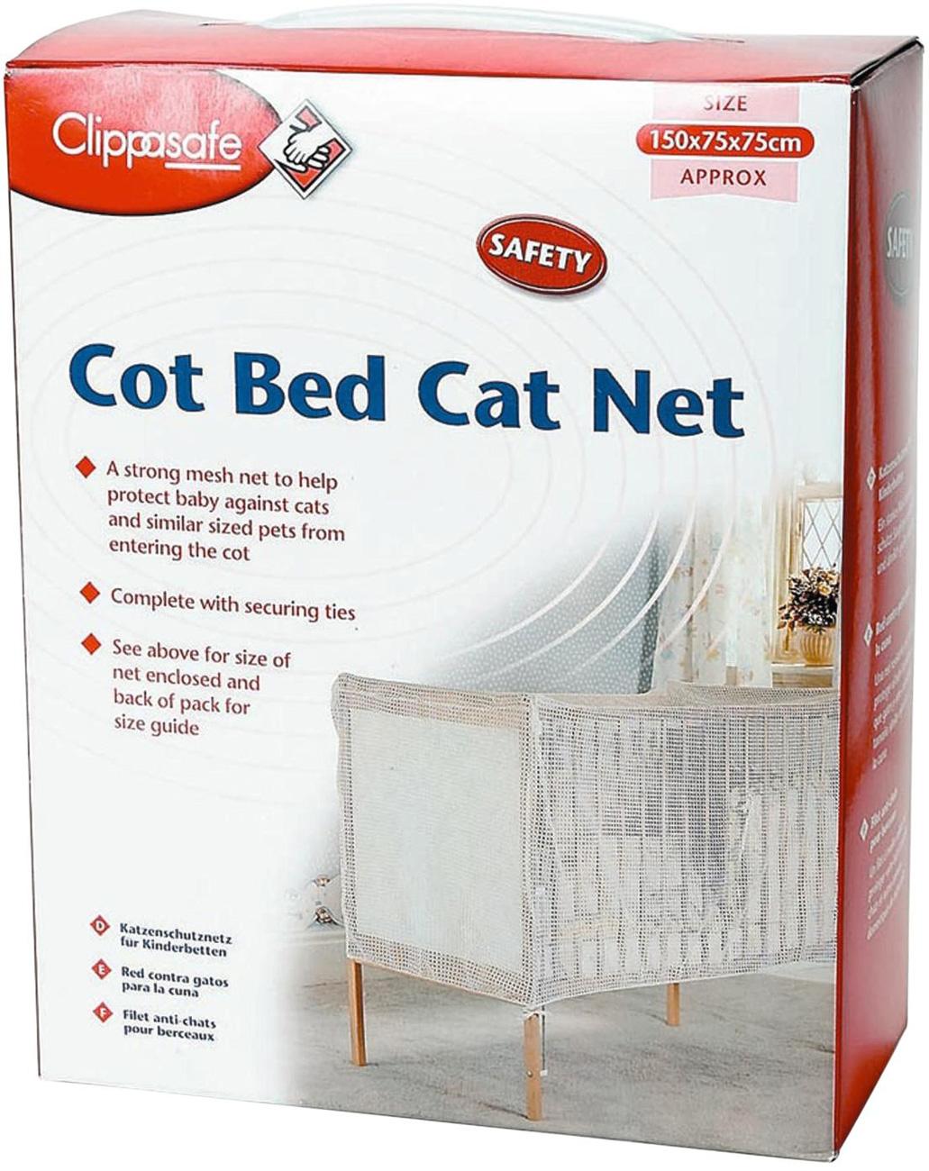 Clippasafe Crib Bed Cat Net Mesh Baby Child Kids Nursery