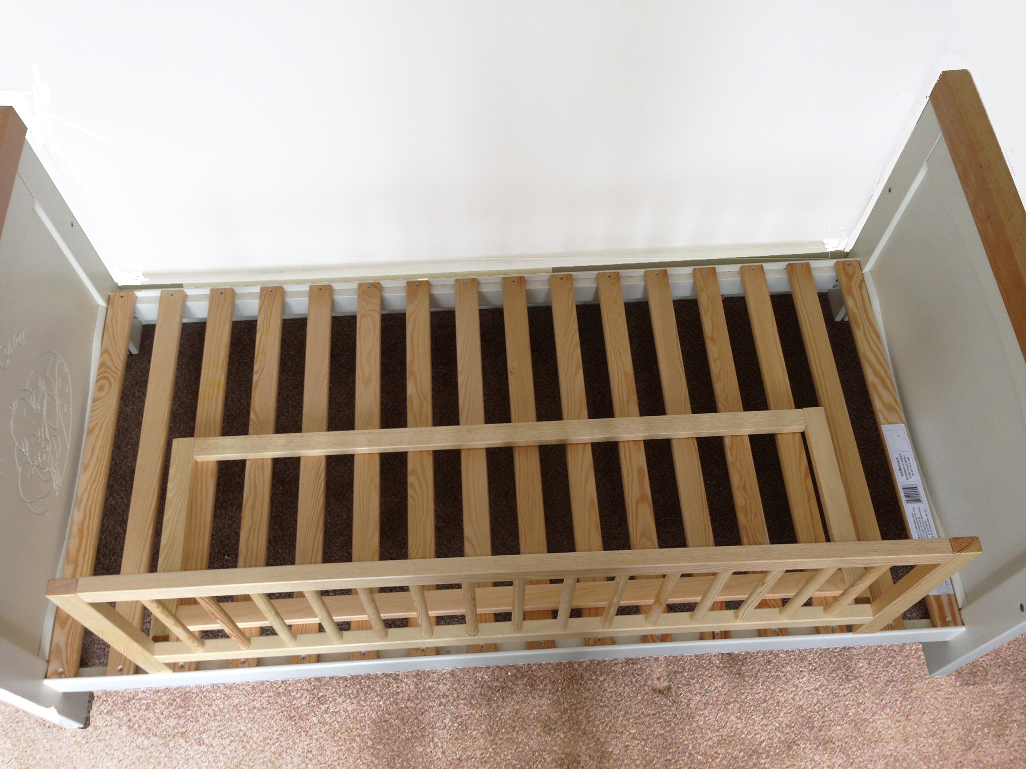 Safety Bed Rail Wood Safetots Double Sided Wooden Guard Two