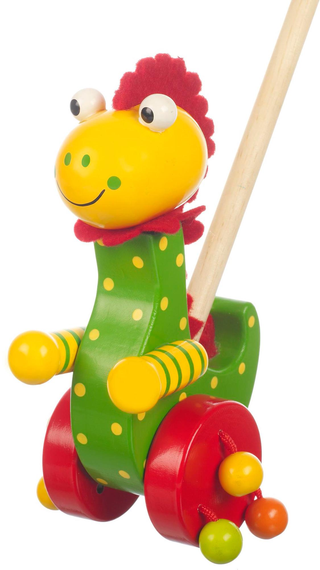 orange tree toys push along wooden toy baby toddler child walking new ebay. Black Bedroom Furniture Sets. Home Design Ideas
