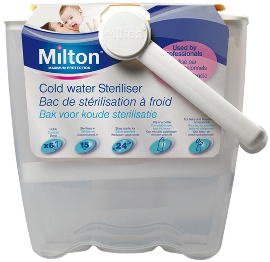 milton cold water steriliser baby toddler health care. Black Bedroom Furniture Sets. Home Design Ideas