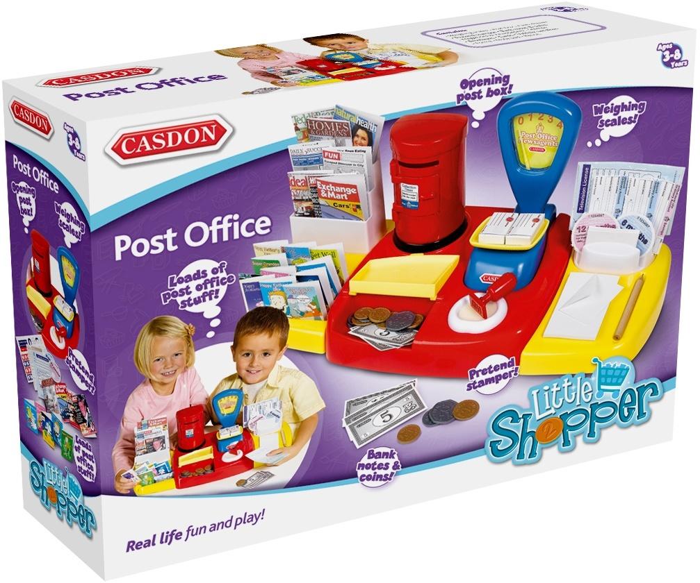 Casdon Post Office Set Pretend Role Play Newspaper Money Kids