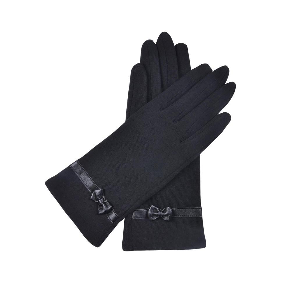 Black gloves with bow - Black Gloves With Bow 41
