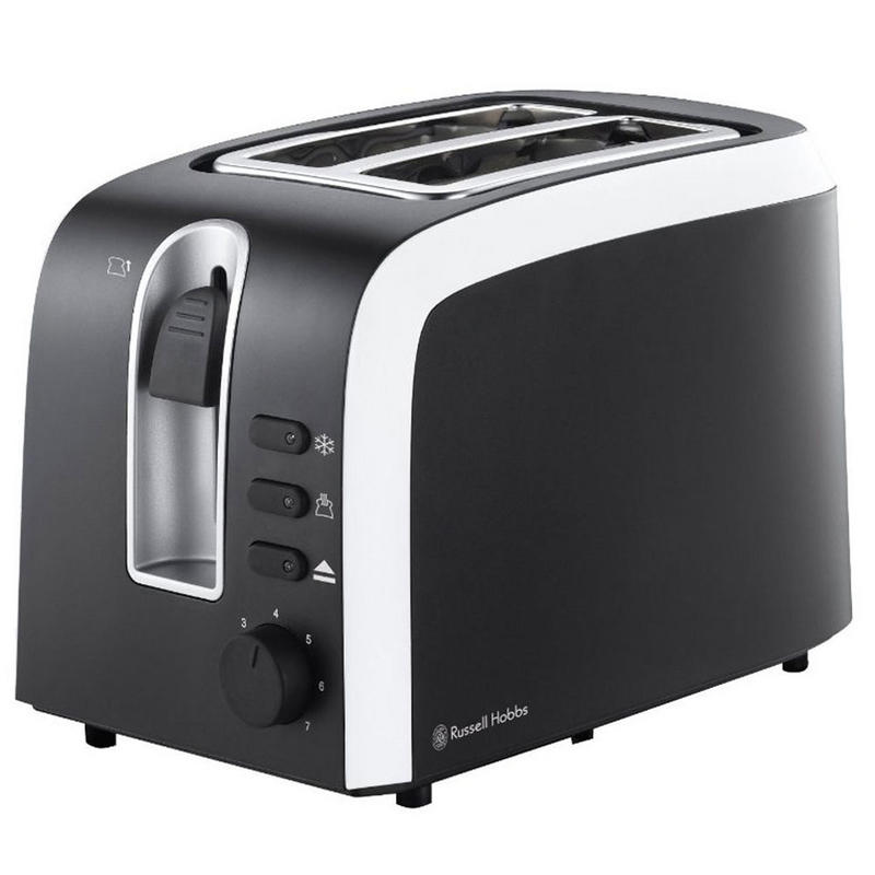 russell hobbs mono collection 2 slice black white toaster. Black Bedroom Furniture Sets. Home Design Ideas