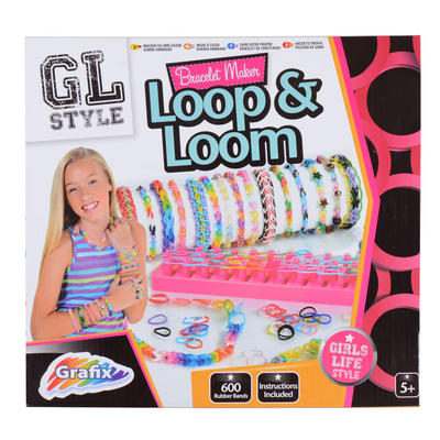 Childrens Grafix Bracelet Maker Loop & Loom Bands Creative Toy