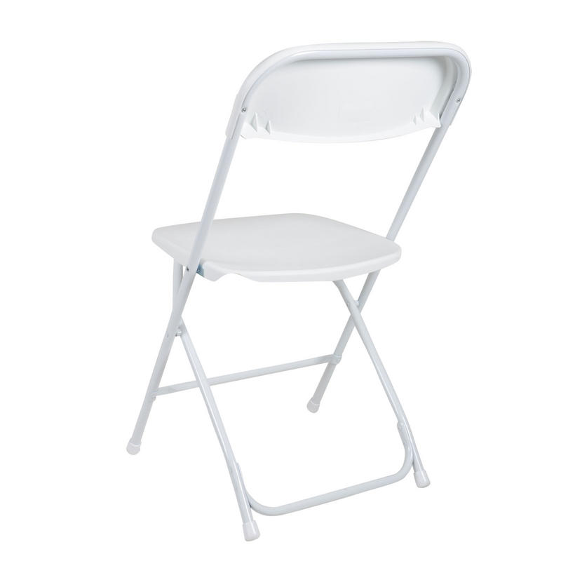 Set 2 White Folding Chairs For Indoor Outdoor Use