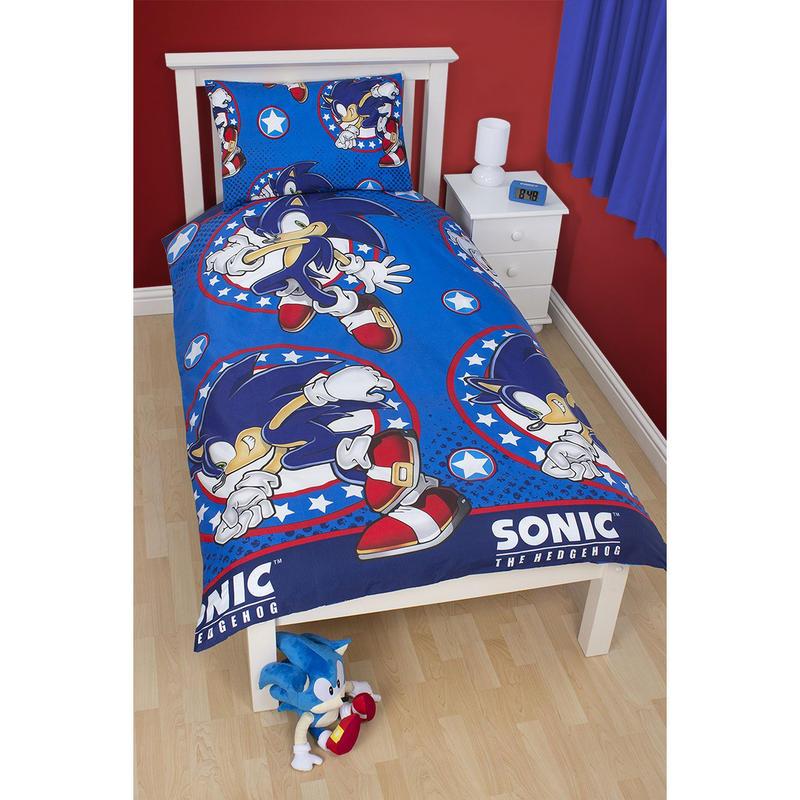 Sonic The Hedgehog Bedding Set Sonic Speed Bedding Sheet