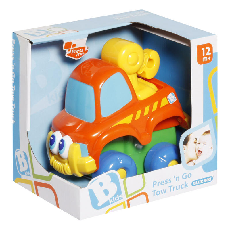 Learning And Development Toys : Blue box press and go tow truck learning development toy