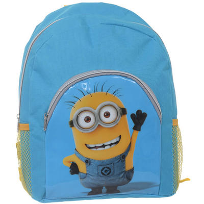 Despicable Me 2 Childrens Blue & Yellow Back Pack With Waving Minion Print Age 3+