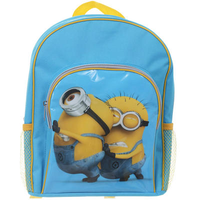 Despicable Me 2 Childrens Blue & Yellow Back Pack With Pushing Minions Print Age 3+