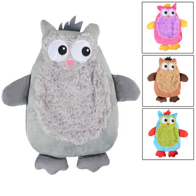 Hot Water Bottle With Novelty Plush Owl Cover New