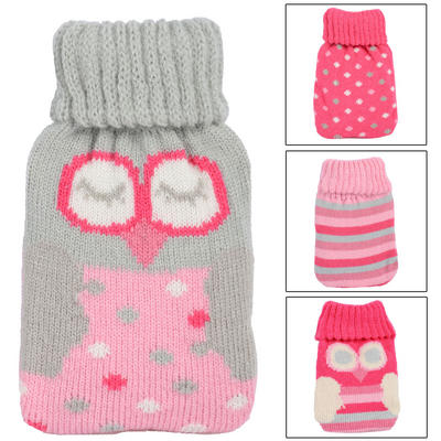 Mini Hand Warmer Gel Pack With Knitted Cover Hot Water Bottle