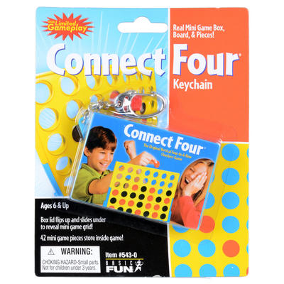 Childrens Connect 4 Travel Key Chain Ring Mini Game