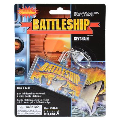 Childrens Battleships Travel Key Chain Ring Mini Game