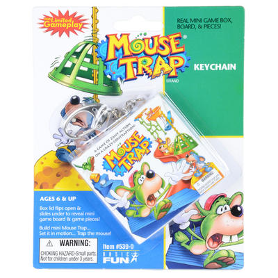 Childrens Mouse Trap Travel Key Chain Mini Game