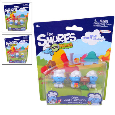 Childrens Smurfs Micro Figures 3 Pack Toys