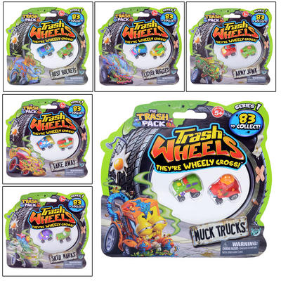 Childrens Trash Pack Wheels Twin Pack Ages 5+