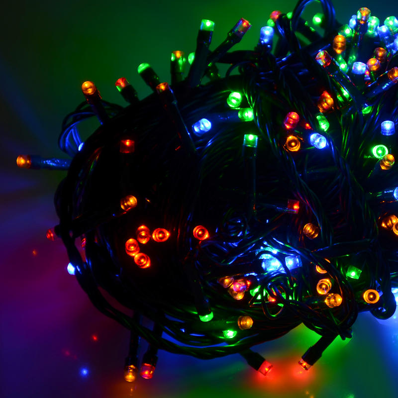 Battery Operated Chasing LED Lights With Timer Indoor