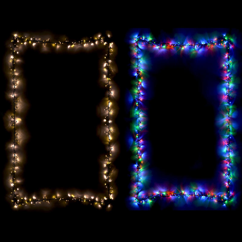 Chasing christmas cluster led lights set indoor outdoor