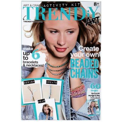 Childrens TRENDiY Beaded Chain Bracelets Art & Craft Kit