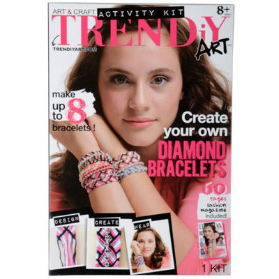 Childrens TRENDiY Diamond Bracelets Art & Craft Kit