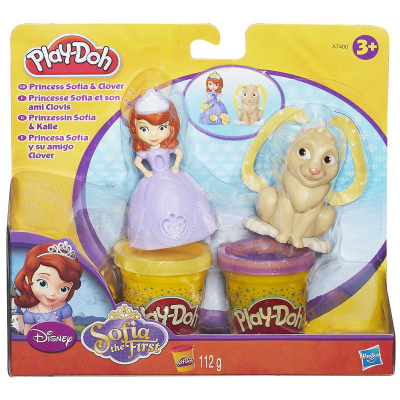 play doh sofia the first princess   clover stamp