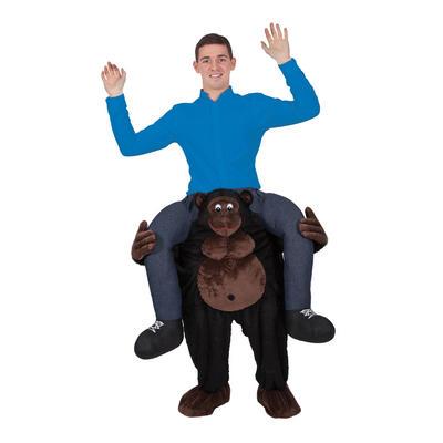 Black Carry Me Gorilla Animal Adult Funny Macot Costume