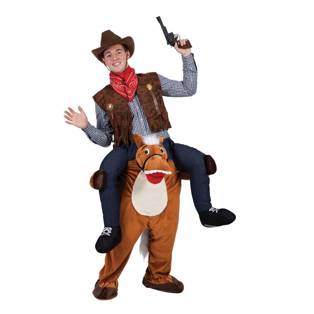 Brown Carry Me Horse Animal Adult Funny Macot Costume
