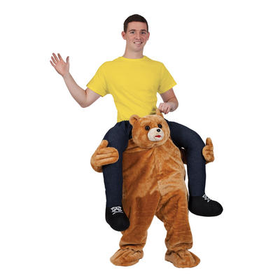 Brown Carry Me Teddy Bear Adult Funny Macot Costume