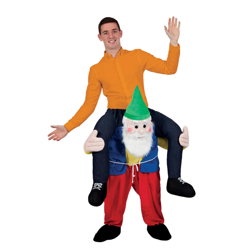 Carry Me Garden Gnome Adult Funny Macot Costume