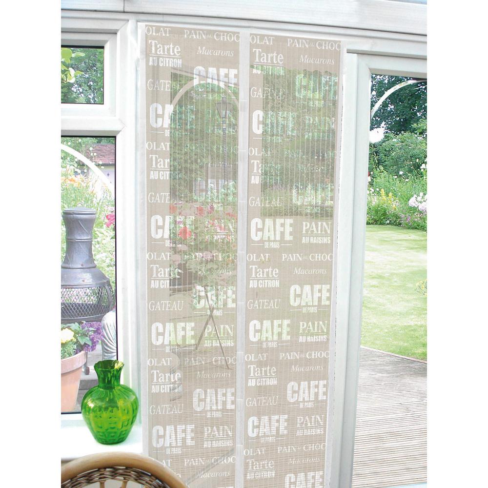 Printed magnetic insect door screen guard for Insect door screen