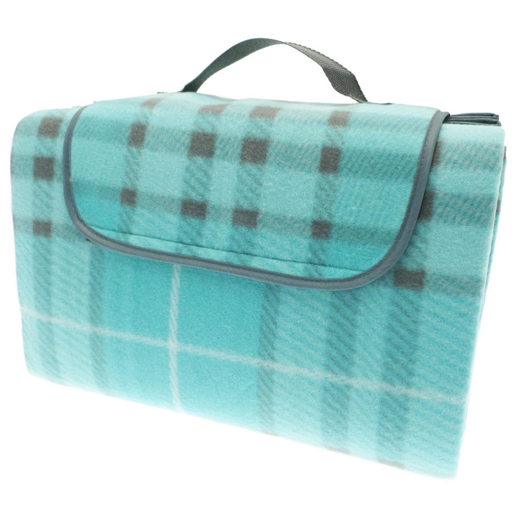 Family Beach Blanket: Family Size Tartan Picnic Beach Blanket 150cm X 200cm