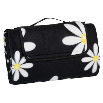 Daisies Folding Waterproof Fleece Picnic Blanket Rug - FREE SHIPPING