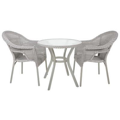 Havana Rattan Bistro 2-Seat Garden Furniture Table & Chairs Set