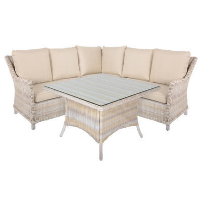 Barbados 4 Piece Rattan Wicker Garden Furniture Corner Sofa Set