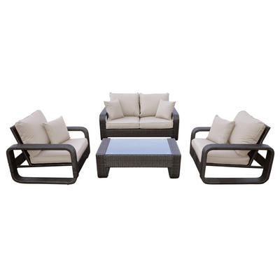 Bahamas Rattan Wicker Garden Furniture Table & Sofa Set