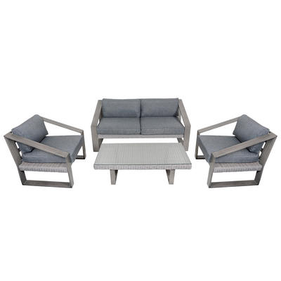 Dominica Aluminium Wicker Garden Furniture Table & Sofa Set